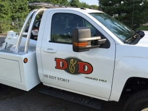 Truck lettering and graphics custom