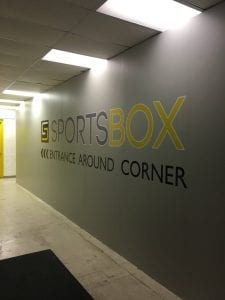 Custom wall lettering to better you business