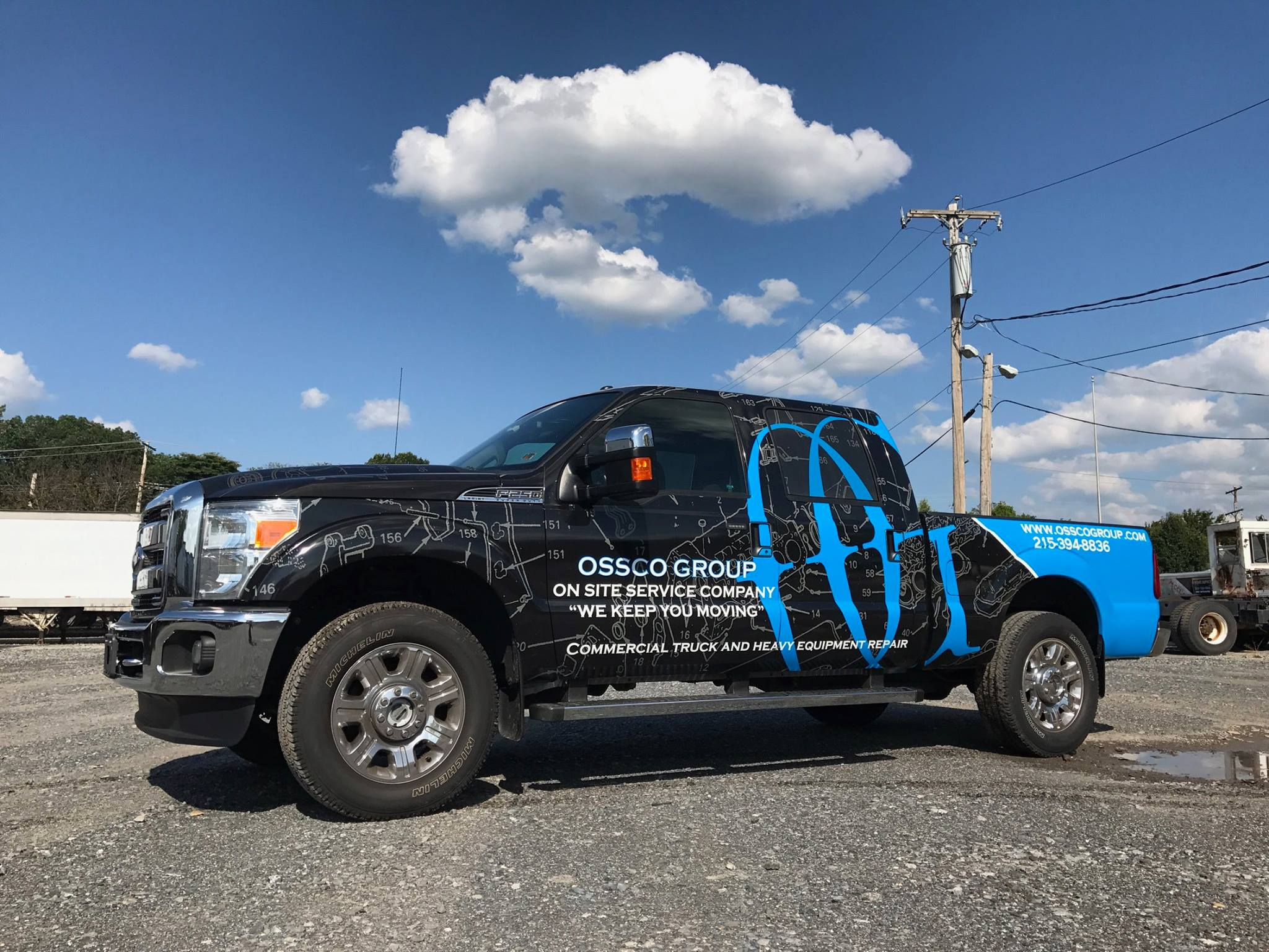 Truck Wrap installed by Slicks Graphics