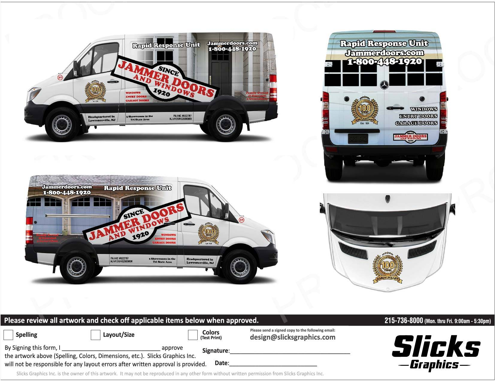 custom van graphic design