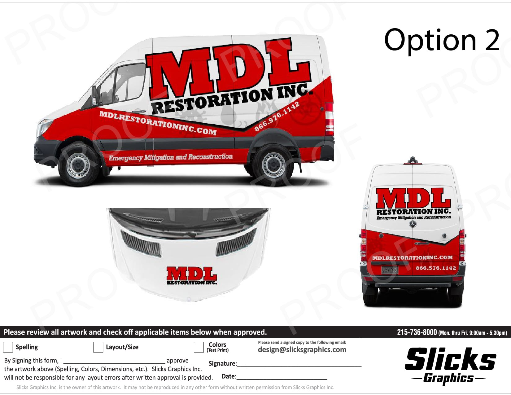 Cargo Van Wrap Design Proof